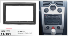 11-151 top quality Auto Car CD DVD Radio fascia installation facia trim 2-DIN dash kit for RENAULT Megane II 2002-2009