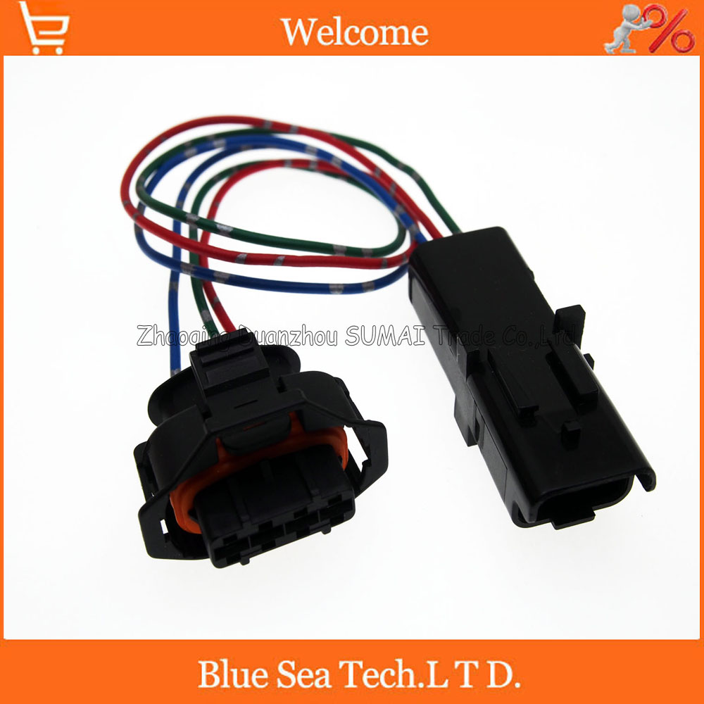 4Pin to 3Pin Auto senser plug,Car modification plug with 30cm cable for Bosch and FCI connector<br>