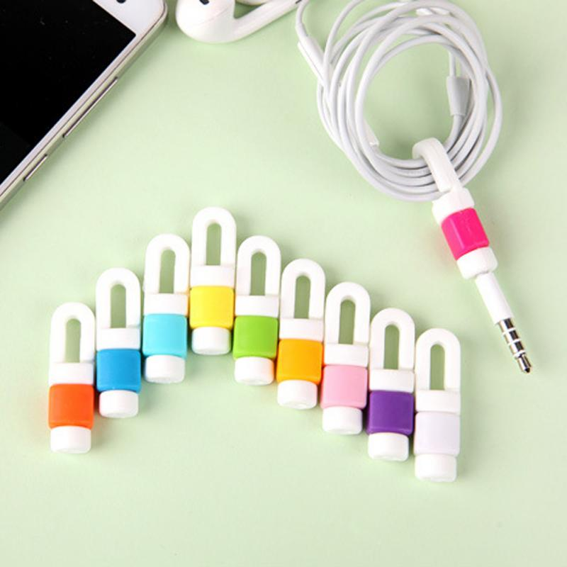 Cute Date Cable Bite Winder Headphone Earphone Organizer Wire+Protective Cord WE
