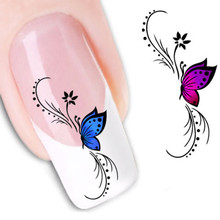 Butterfly Nail Art Nail Decals Water Transfer Stickers Decoration for Women Ladies