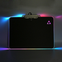 PRO Gaming Hard Mouse Pad RGB Lighting PVC Non-Slip Mice Mat Silicone Bottom USB Lighting Mousepads For PC Laptop LOL CS(China)