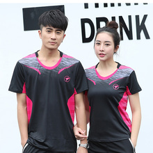 Free Custom Badminton t shirts Men/Women's , sports badminton shirts ,Table Tennis t shirt , Tennis shirts AY005