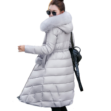 Fur collar long hooded casaco feminina inverno warm thicken cotton padded high quality women winter jacket womens coats parkas
