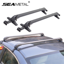 Car Universal Aluminum Alloy Roof Racks Rack Bars Travel Storage Aluminum Roof Boxes Luggage Rack Auto Exterior Accessories