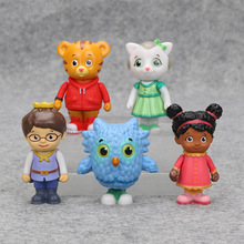5Pcs/set Daniel Tiger's Neighborhood Friends Figures Set Daniel Tiger Prince Elaina Owl Katerina PVC Action Figure Toy