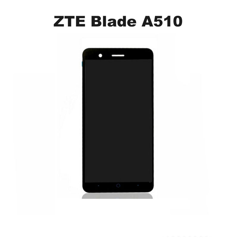 Black Touch Screen For  ZTE Blade A510  Front Glass Digitizer Panel Sensor Glass Lens +LCD Display Replacement<br><br>Aliexpress