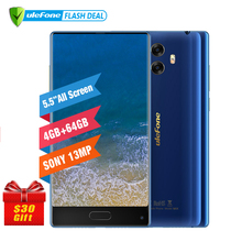 Ulefone MIX 13MP Dual Camera Mobile Phone 5.5 inch MTK6750T Octa Core Android 7.0 4GB+64GB Fingerprint 4G Smartphone(China)