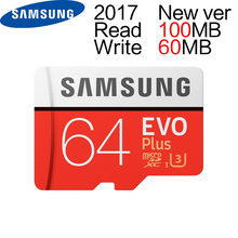 Samsung 64GB MAX R 100MB/S W 60MB/S Memory MicroSD 64G Card New Version EVO PLUS C10 TF Cards U3 Flash(China)