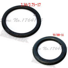 2.50-17 &90/100-14 inner tube for dirt bike/pit bike Inner Tube 2.50-17 Front Inner Tube &90/100-14 Rear Inner Tube(China)