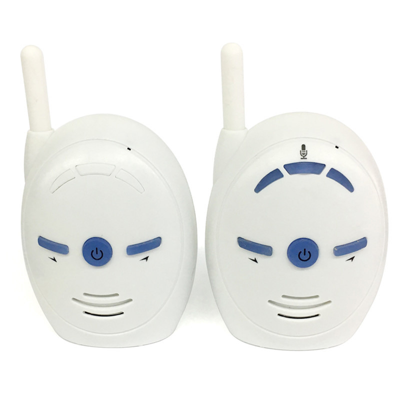 2.4GHz Wireless Baby Audio Monitor Two Way Radio Babysitter Audio Voice Monitoring Crying Alarm Baby Monitor<br>