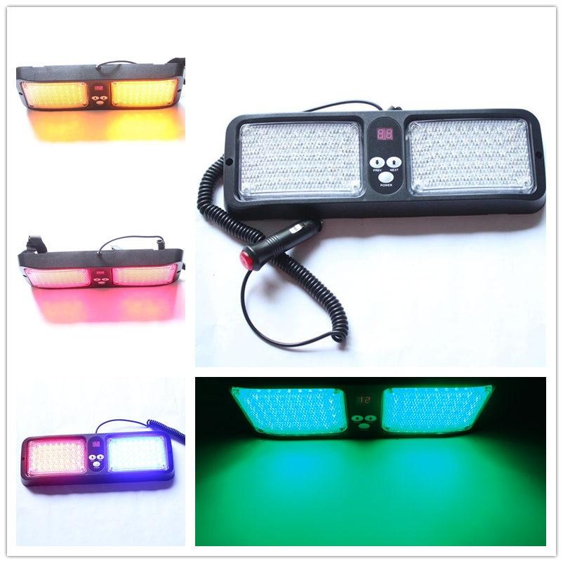 Car-Styling Universial 12 Modes Sun Visor Bright 43 LED x 2 Strobe Flashing Ambulance Police lights Car Truck Emergency Lightbar<br>