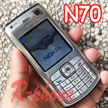 Refurbished Original NOKIA N70 Mobile Cell Phone & Russian Arabic Keyboard & One year warranty(China)