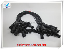 10pcs/lot High quality 3 pin dmx extension cable 2m/3m/5m/6m/10m used for connecting outdoor led par and dmx controller