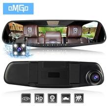 dash camera car dvr dual len rear view mirror auto dashcam recorder registrator in car video full hd dash cam Vehicle two camera(China)