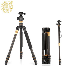 Q999C carbon fiber Tripod Monopod to Camera tripod professional Photographic equipment accessories / Max load 10kg / Travelling