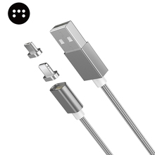 Moizen 8 Pin Micro USB Magnetic Connector Data Charging Cable for iPhone 7 7Plus Jet Black Android S7 Edge Redmi Smartphone 1M
