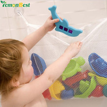Folding Bathroom Hanging Mesh Children Bath Baby Toy Storage Bag Net Suction Cup Baskets Shower Toy Organizer Bags Toys Tidy Bag
