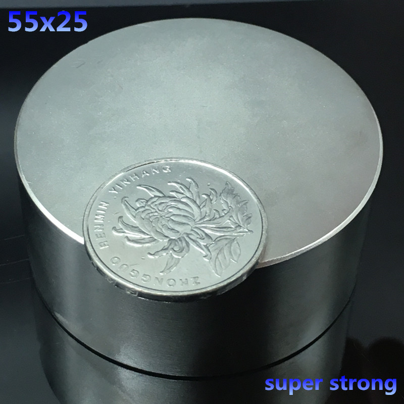 1pcs N52 55x25mm round strong neodymium magnets 55*25mm strong Rare Earth Magnetic powerful super strong magnets<br>