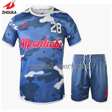 Hot sale design High Quality Full sublimation custom men's football uniform(China)