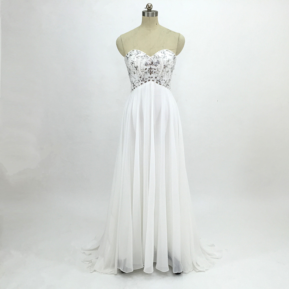 Sexy Chiffon A Line Beach Wedding Dresses Vintage Boho Cheap Bridal Gowns Vestidos De Novia Robe De Mariage Bridal Gown in stock 14