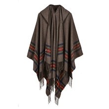 Big scarves winter scarf cashmere poncho women Bohemian Shawls Tribal Fringe Hoodies blankets Cape shawl Ponchos and capes YG085