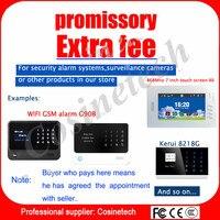 Speciale Link Extra Vergoeding Voor Cosinetech Home Security GSM PSTN WIFI  Alarmsysteem, Benoemd Kosten,