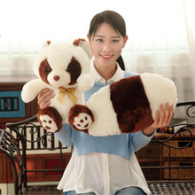 2 Colors High Quality Simulation Long Tail Raccoon Plush Toys Stuffed Animal Toy Soft Raccoons Bear Plush Dolls Kids Toys Gifts(China)