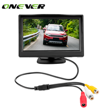 Onever 5 Inch Car TFT LCD Rear View Display Monitor Kit with Waterproof Night Vision Wide Angle Car Rearview Camera Car Monitors(China)