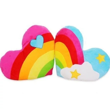 40Cm South Korea love heart rainbow clouds plush toy couple plush cushion pillow birthday gift