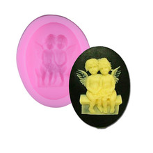 3D Silicone Mini Lovely A Pair Angel Mold DIY Sugar Craft Chocolate Christmas Cake Decorating Tool Mould Baking Tools