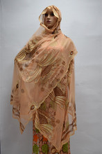 most popular set of brick embroidered French Chiffon Lace Scarf fabric !16l-3-28
