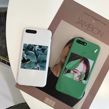 IMD cool cartoon inset girl plant candy soft gel luxury silicone tpu case for iphone 6 6s 6 s 6plus 7 plus cases phone cover(China)