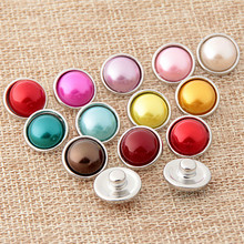 10pcs/lot Fashion DIY Round 12MM Snap Buttons With Zinc Alloy Bottom for Snaps Bracelets fit Xinnver Snaps Jewelry(China)