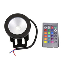 High Quality 10W 12V Underwater LED Light Flat Glass RGB Warm Cold White Waterproof Bulb Black Cover Cae Garden Pond Pool Lamp