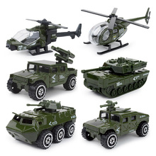 1:87 New 6pcs/set Mini fire truck military special police alloy car model toys Alloy engineering car tractor toy for children