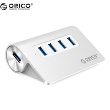 ORICO M3H4 New Mac Design Mini High Quality High Speed  Aluminum 4 Port USB 3.0 HUB - Silver
