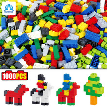 100DIY Colorful ABS Plastic Building Blocks Bricks Educational Kids Figures Brinquedos Toy Gift Compatible Legoe Duplo - qunlong OfficialFlagship Store store