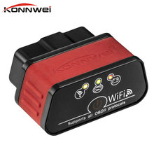 KONNWEI ELM 327 V1.5 Wifi OBD2 car Code Reader Scanner ELM327 V 1.5 OBDII OBD 2 II Car Diagnostic tool Automotive scanner(China)