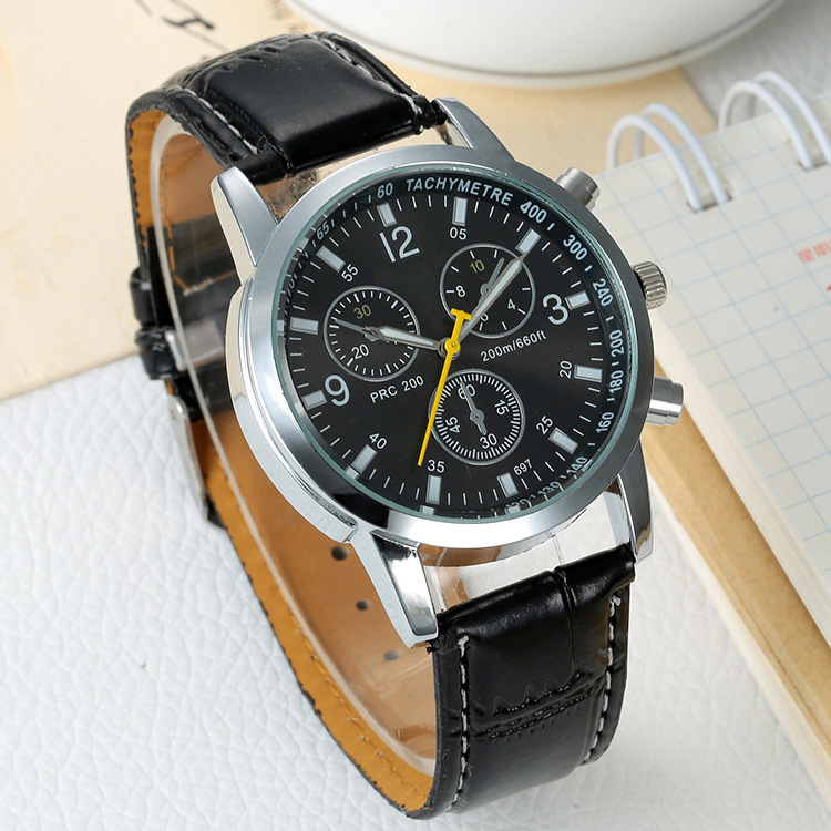 Men Fashion Casual Quartz Watch Male Faux Leather Strap Wristwatch Military Sport Watch Relogio Masculino Clock New(China (Mainland))