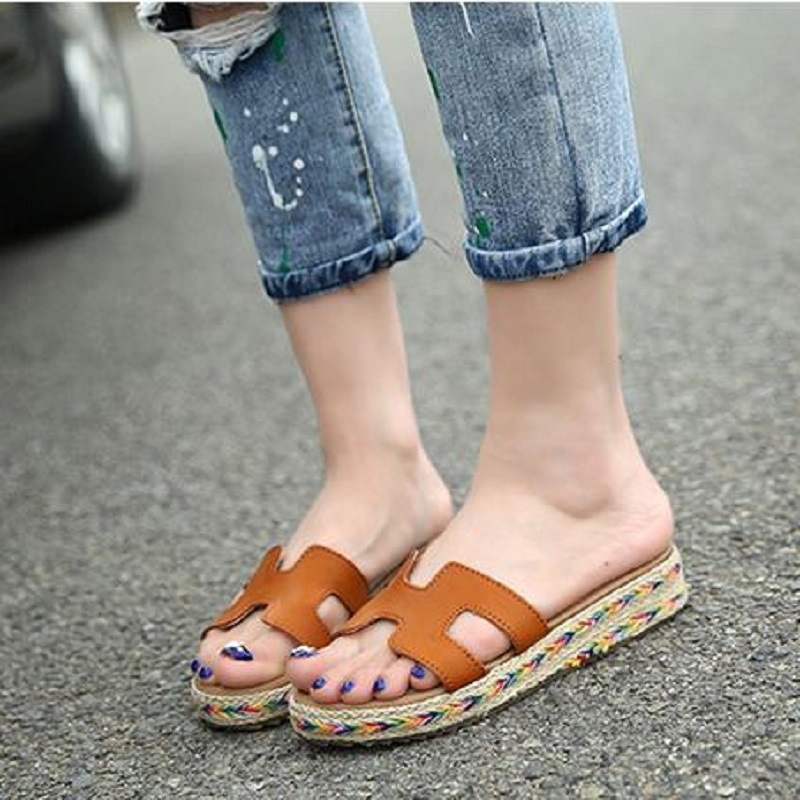 2017 Summer Fashion Female Sandals Cool Convenient Shoes Woman Anti-Sliding Slope Roman Zapatos Mujer<br><br>Aliexpress
