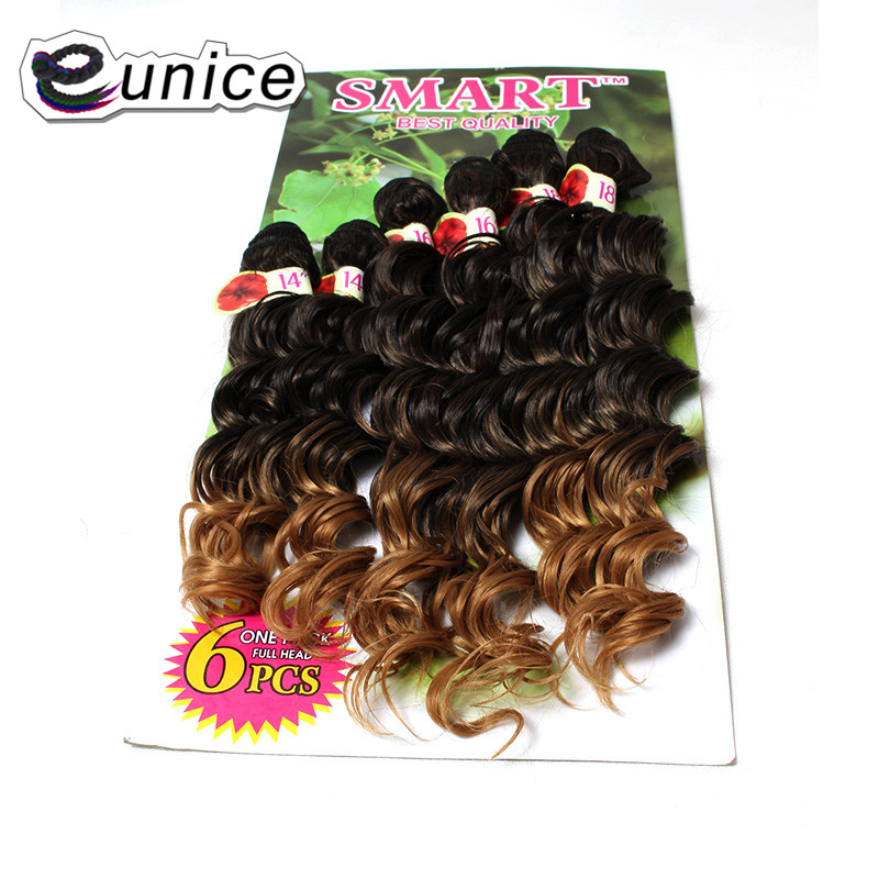 Jerry Curly Weave Hair Extension Sew in Synthetic weaving Wefts (8)