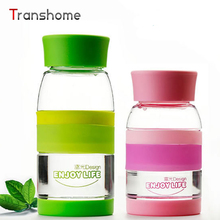 New Candy Color Bottle Plastic Outdoor Travel Sport Water Bottle 350/450ML Drink Bottle Shaker Free Shipping Transhome