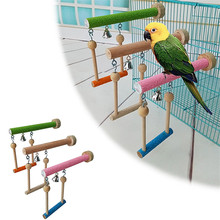 Multifunctional Bird Toy Parrot Swing Stand Claws Honing Boredom Relieving Puzzle Swing Stand for Biting and Climbing(China)