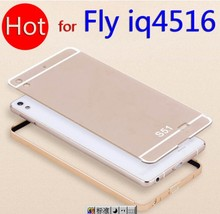 01 Fly IQ4516 Tornado Slim Free Shipping Coloured Metal Frame Rim Bounding Cover Smart Mobile Cell Phone Cases for fly iq 4516