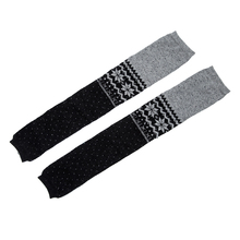 Women Snowflake Leg Warmers Socks (Grey)