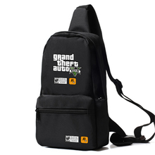 Zshop GTA5 Shoulder Bag Casual Cross Body Bag for Men Women Grand Theft Auto Sling Bag Chest Pack for Boys and Girls(China)