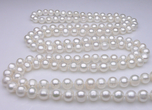 DYY+++429  Counter genuine 10-11mm new sweater chain natural pearl necklace multilayer Long Necklace