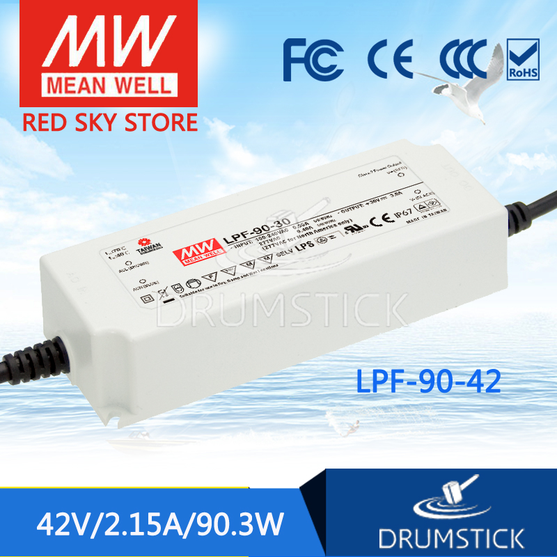 Advantages MEAN WELL LPF-90-42 42V 2.15A meanwell LPF-90 42V 90.3W Single Output LED Switching Power Supply<br>