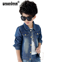 WEONEDREAM Spring Autumn Children's Jacket Denim Boys Jean Jackets Girls Kids Clothes Baby Coat Casual Outerwear Size 90-170cm(China)