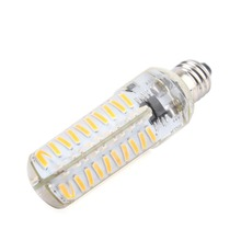 E11 Silica Gel Dimmable 80 LEDs 4014 SMD Cool/Warm White 8W Light Bulb Lamp 220V/110V - GoGood store